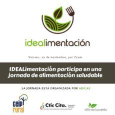 IDEALimentación se presenta en una jornada de ADICAE sobre alimentación saludable